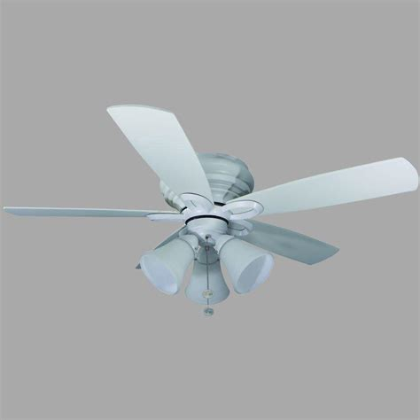 Hton Bay Maris 44 In Indoor White Ceiling Fan With Ceiling Fans White