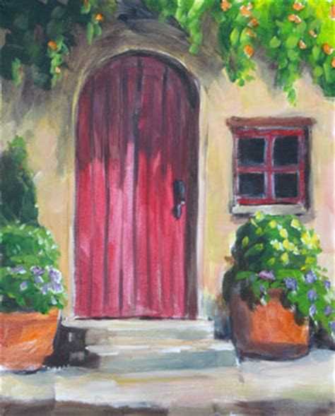 acrylic painting door student academy m theresa brown stephen filarsky