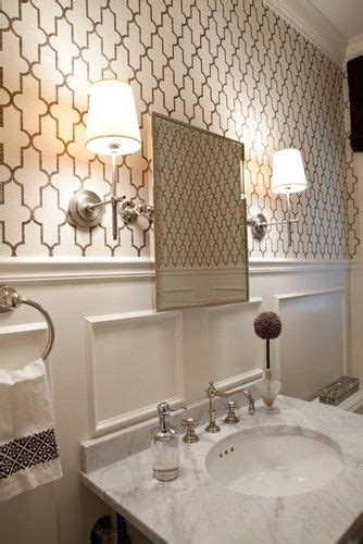 classic glam marble wainscoting vintage