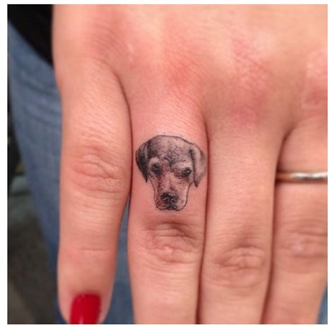 tattoo finger dog 19 adorable dog finger tattoos