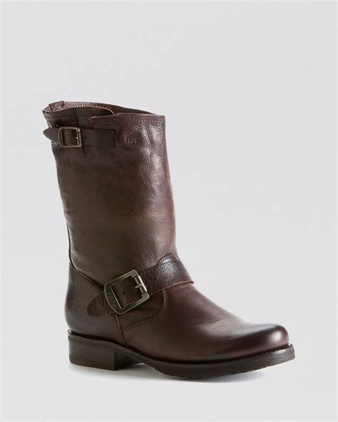 Original Dr Faris Moto Graid2 Boots Brown frye boots shortie in brown lyst