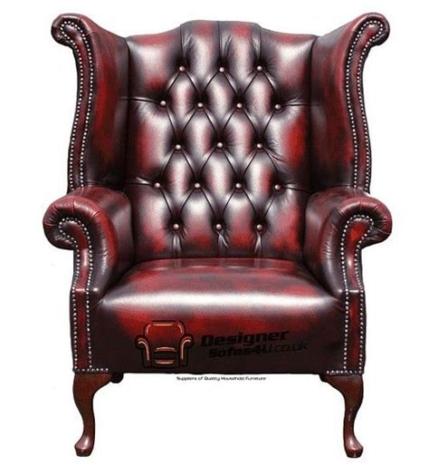 Traditional Leather Armchairs Uk by Chesterfield 1780 S High Back Wing Chair Uk
