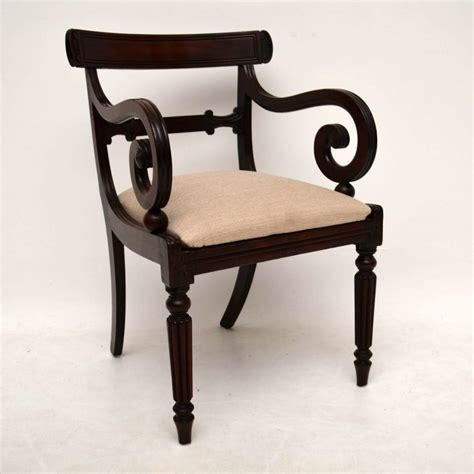 Armchair Desk by Antique William Iv Mahogany Armchair Or Desk Chair