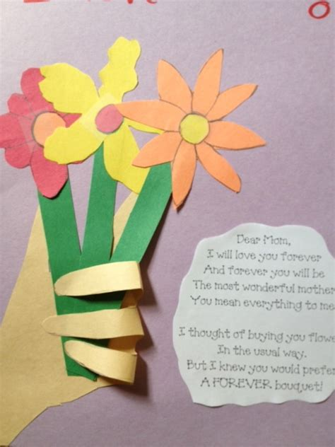 preschool crafts for kids mother s day flowers with hand craft