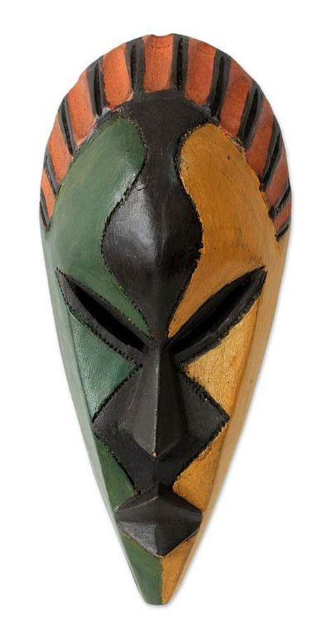 Handcrafted Masks - colorful handcrafted mask from my name is