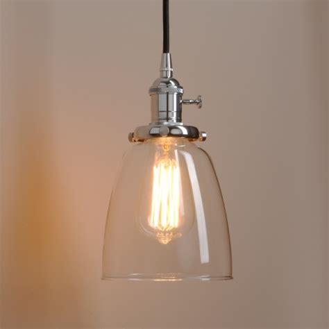 loft antique clear glass bell pendant lighting pathson light