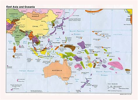 world map cities and capitals maps of australia and oceania and oceanian countries