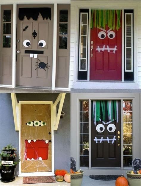 diy door decor 51 cheap easy to make diy halloween decorations ideas