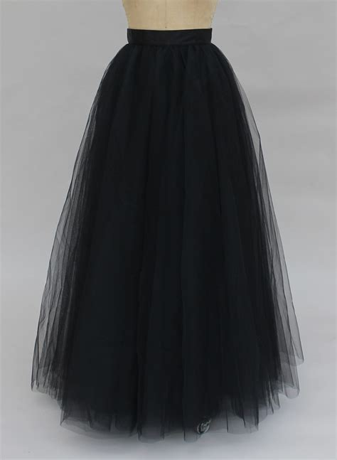 wendy maxi tulle skirt black space 46