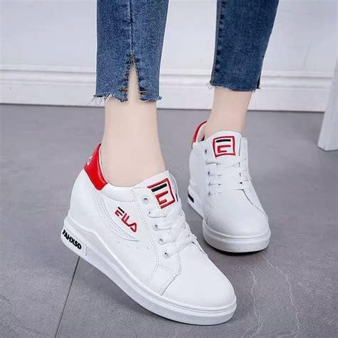 Sepatu Fila Warna Merah mt sepatu fila white sneakers santai wanita fashion