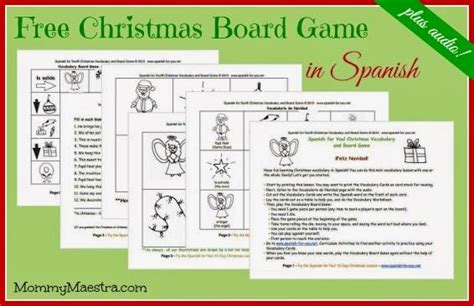 printable spanish board games visit my blog to get your free spanish christmas