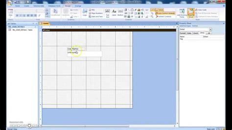 design form access 2007 create login form with advance design in microsoft access