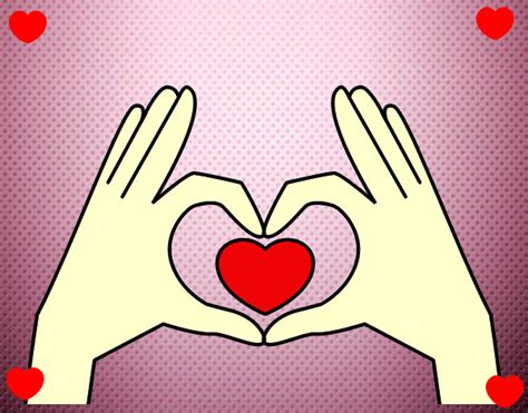 imagenes de corazones hechos con las manos dibujo de le co ra zon pintado por sangy en dibujos net el