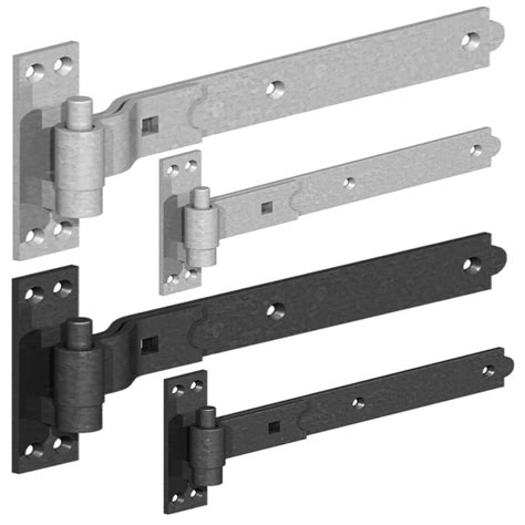 Barn Door Hinges Heavy Duty Heavy Duty Hook And Band Gate Shed Stable Door Hinges Galvanised Or Black Ebay