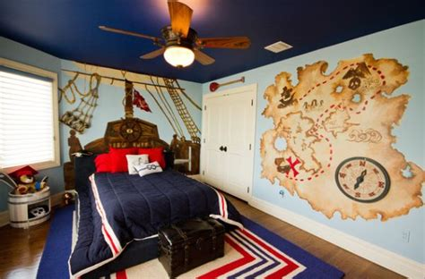 pirate themed bedroom cool boys room paint ideas for colorful and brilliant