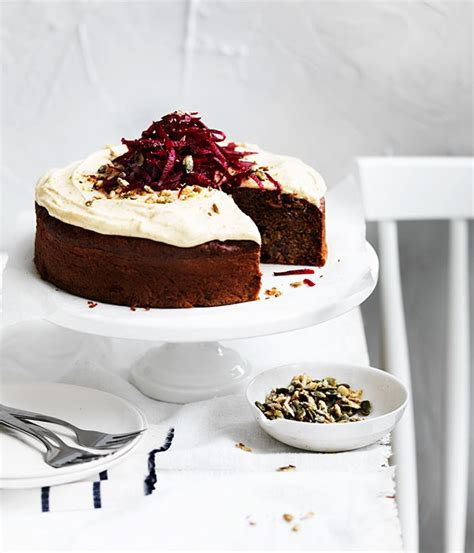 spiced beetroot seed cake with rapadura frosting recipe gourmet traveller