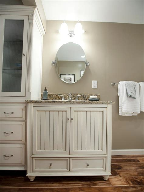 Rustic Bathroom Vanity With Oval Mirror Using Brushed Oval Mirrors For Bathroom Vanities