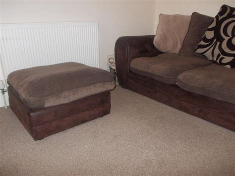 foot rest couch right hand corner sofa and foot rest brown and beige