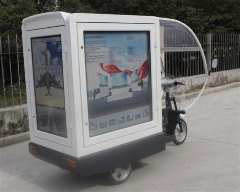 lightbox mobile scooter advertising trailer mobile pizza advertising