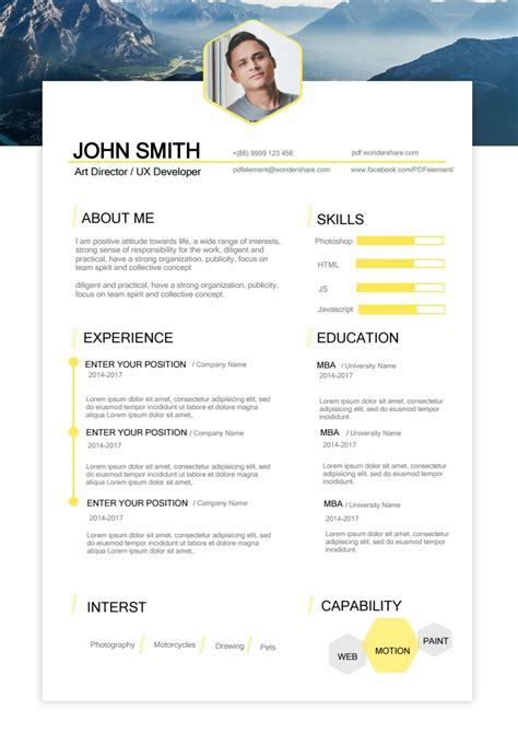 actor cv template free acting resume template free edit create fill and print wondershare pdfelement