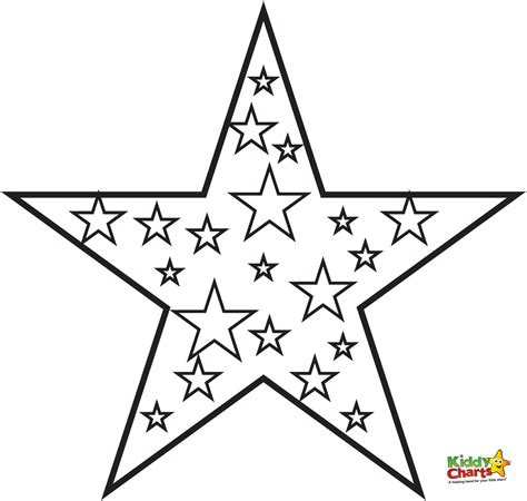 coloring page of a christmas star star coloring pages