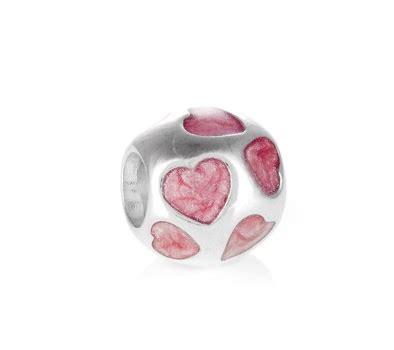 Silver Charm With Pink Enamel P 1179 pandora silver blush pink enamel you charm greed jewellery