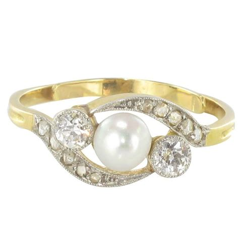 19th century antique pearl and ring at 1stdibs