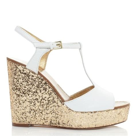 Wedges Gold Gliter Wedges Murah kate spade gold glitter wedges wedding worthy shoes kate spade wedges and glitter