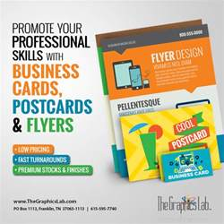 flyers and business cards printing professionally designed and printed the graphics lab