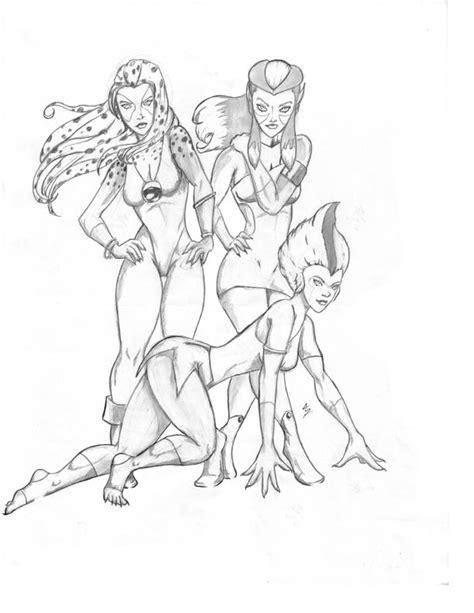thundercats 2011 drawings sketch coloring page