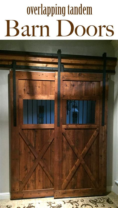108 Best Images About Barn Doors On Pinterest Industrial Overlapping Barn Doors