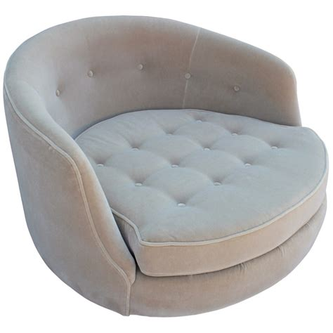large circle swivel chair magnificent milo baughman circle swivel lounge chair in mohair
