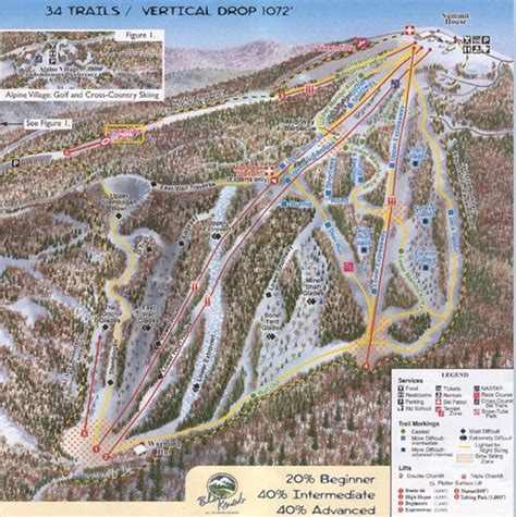Blue Knob Trail Map by Blue Knob Four Seasons Ski Trail Map Claysburg