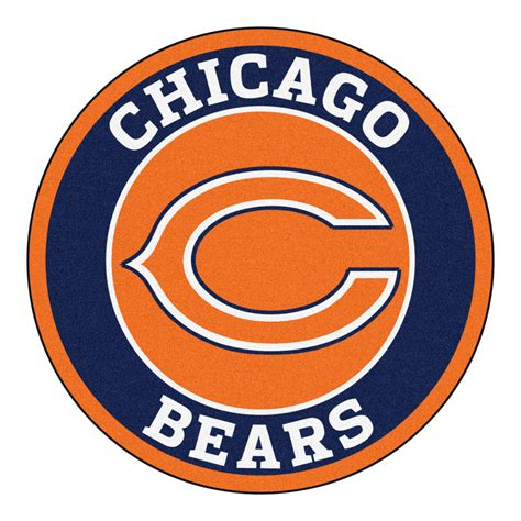 chicago bears area rug chicago bears logo roundel mat 27 quot area rug