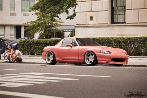 peach car mazda miata nb on brock b1 wheels peachy jdmeuro com