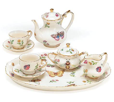 Baterflay Set morning butterfly porcelain miniature tea set