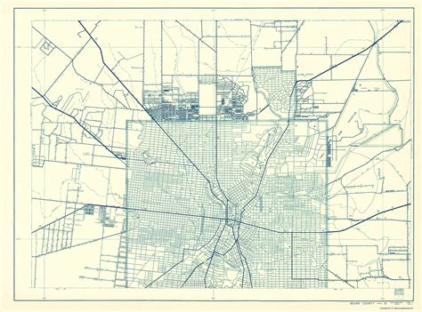 bexar county texas map county maps bexar county texas tx hwy map 1 of 2 by hwy dept 1936