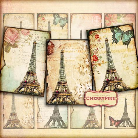 tumblr themes vintage scrapbook free vintage paris digital collage sheet scrapbook by miabumbag