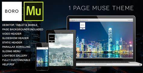 muse themes facebook preview boro 1 page muse theme by willaca themeforest