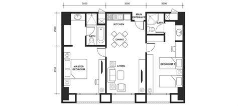 crown princess floor plan 吉隆坡皇冠酒店公寓 套房 两个房