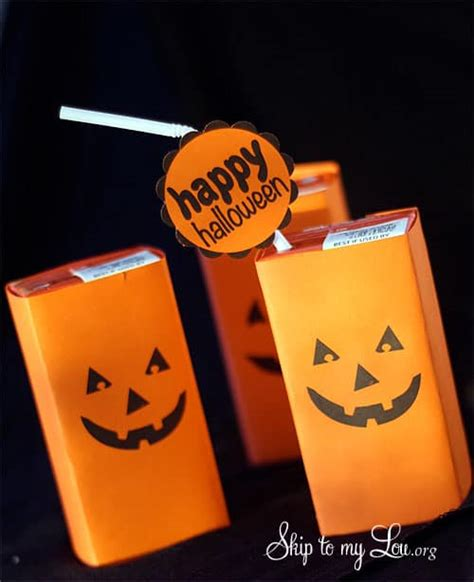 pumpkin face juice box covers halloween printable skip   lou