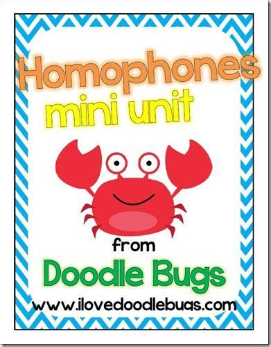 doodlebugs teaching doodle bugs teaching grade rocks homophones