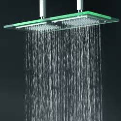 contemporary 9 inch 18 inch glass square led rainfall