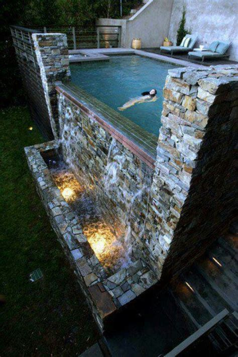 Super Cool Swimming Pool Waterfall Pool Design Ideas Cool Backyard Pools