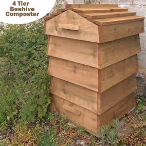 decorative compost bin blackdown beehive wooden composter original organics