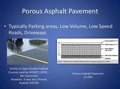 heavy duty asphalt pavement section beach road porous pavement and then some