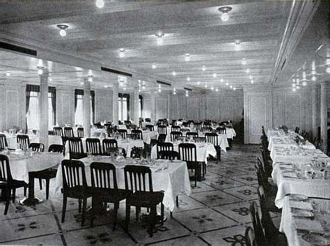 dining on the titanic second class dining room titanic along the side of the