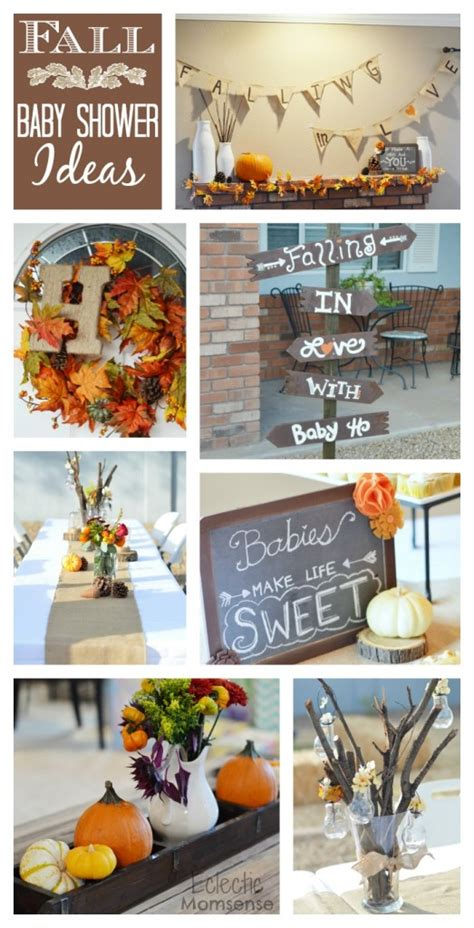 autumn themed baby shower ideas fall in with baby shower eclectic momsense