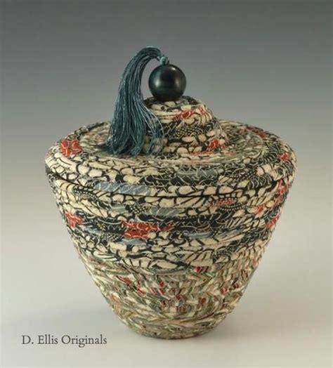 Emerald Garden Basket by Emerald Garden Kimono Fabrics Woven Into A Vessel By