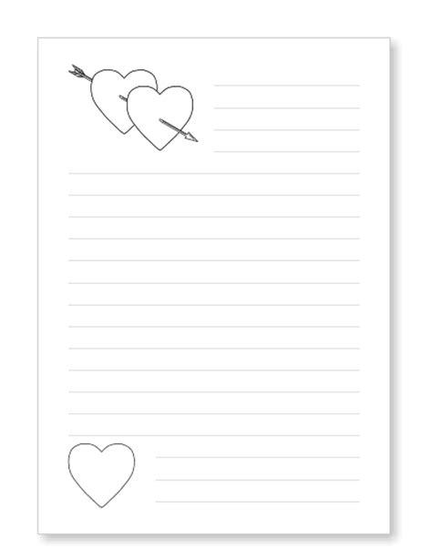 Word Vorlage Liniertes Papier Briefpapier Liebesbrief Herzen Kostenlos Ausdrucken